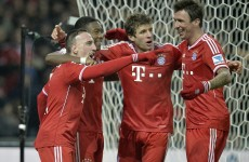 Ribery leads seven-goal Bayern to 40-match milestone