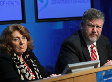 Kathleen Lynch with James Reilly (File phot