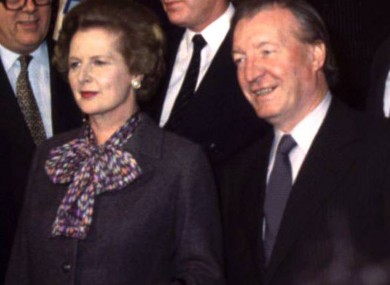 Dublin Castle Summit between British Prime Minister Margaret Thatcher and Taoiseach Charles Haughey in 1980.