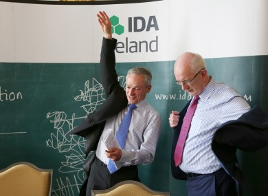 Jobs Minister Richard Bruton can wave his hands like he just doesn't care after The Guardian's kind words for the IDA today.