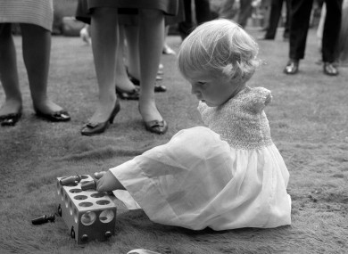 Phillipa Bradbourne, a Thalidomide baby born without arms, at a party in London i n1963, two years after the drug was withdrawn fro the market.