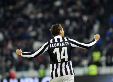 Juventus forward Fernando Llorente.