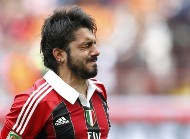 Gattuso in Milan colours in 2012.