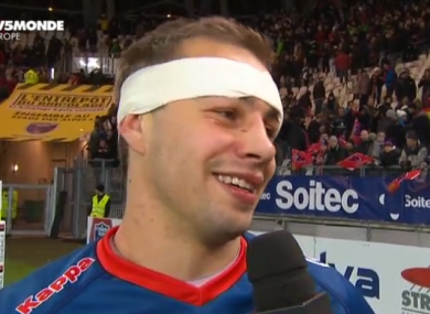 Hart was interviewed by Canal+ after the win over Toulouse.