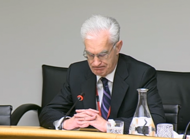 Incoming chairman of Eirgrid John O'Connor pictured at the committee last week.