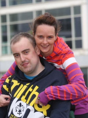 Shane O'Connell, who received a heart transplant this year, with his wife Tricia.
