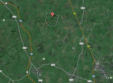 The townland of Macetown, Rathfeigh, off the M3, is highlighted here