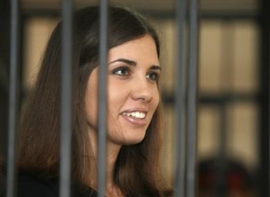 Nadezhda Tolokonnikova of Pussy Riot at a parole hearing earlier this year.