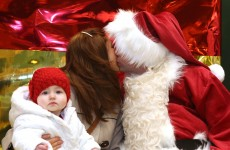 Mommy's Kissing Santa Claus Picture of the Day