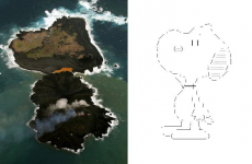 Snoopy-shaped island forms after volcanic eruption
