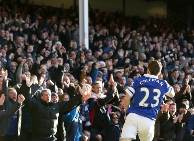 Seamus Coleman: can he get on the scoresheet again today?