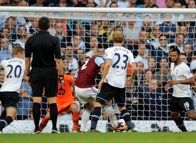 West Ham take on Spurs at White Hart Lane on 6 October this year.
