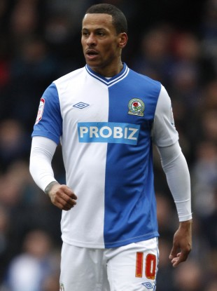 Campbell in action for Blackburn.