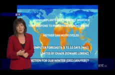 RTÉ weatherwoman goes off on long-range weather predictions