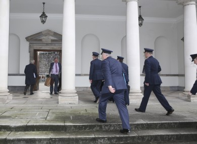 Gardaí including Martin Callinan arriving at Leinster House last week.