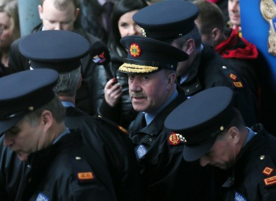 Garda Commissioner Martin Callinan speaks to the press at Dundalk Garda station this afternoon.