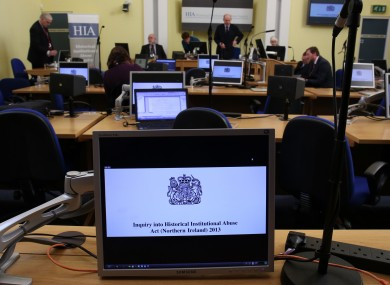 An internal view of the courtroom at Banbridge, Northern Ireland, as a public inquiry into historical child abuse begins today.