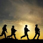 Soldiers from 40 Regiment Highland Gunners in training at Shribah base 10 miles south of Basra, Iraq.<span class=