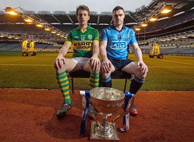 Kerry's Donnchadh Walsh and Dublin's Paddy Andrews.