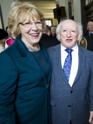 The President and Sabina Higgins
