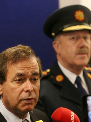 Alan Shatter and Garda Commissioner Martin Callinan