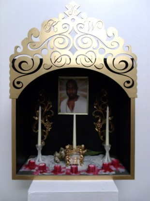 A Yeezus shrine.