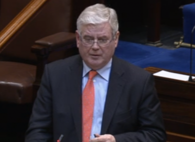 Tánaiste Eamon Gilmore speaking this afternoon.