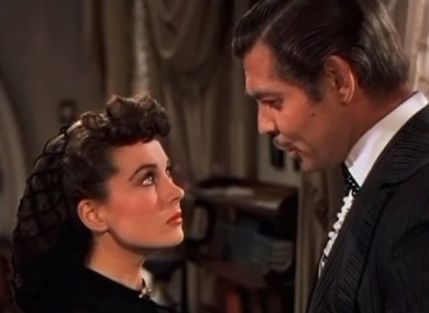 A scene from Gone With the Wind.