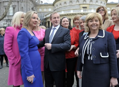This was another women's only (almost) photocall to celebrate International Women's Day last year. Kenny isn't invited this time, though.