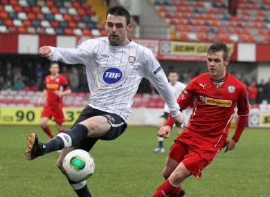 Eoin Bradley in action recently for Coleraine.
