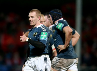 Earls was on hand to finish a wonderful team move for Munster last weekend.
