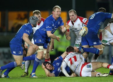Leo Cullen plays scrum-half against Ulster in December.