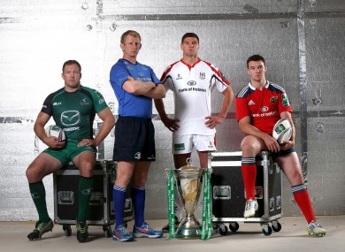 Connacht's Michael Swift, Leinster's Leo Cullen, Ulster's Johann Muller and Munster's Peter O'Mahony.
