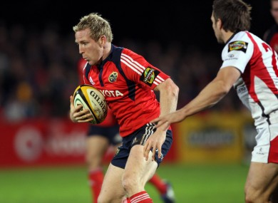 Prendergast in Munster colours in 2008.
