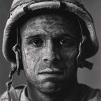 In 2008, photographer Louie Palu captures U.S. Marine Gunnery Sergeant Carlos Orjuela. At 31, he was one of the oldest Marines in the unit at the base in Garmsir District, one of the most dangerous areas in Afghanistan.<span class=