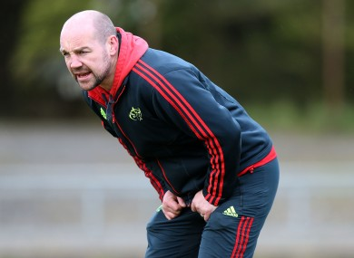 Munster Academy Manger Peter Malone, who is also the province's 'A' team coach.
