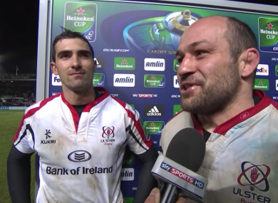 Ulster's Ruan Pienaar (left) and Rory Best reflect on their away win at Leicester.