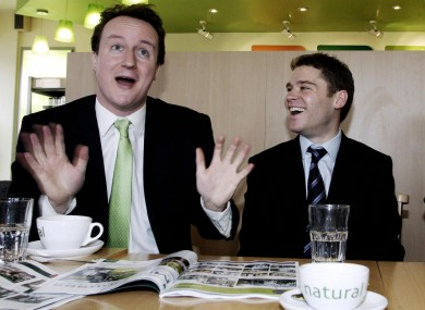 Tory leader and now Prime Minister David Cameron with Aidan Burley in 2006.