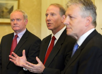 Martin McGuinness, Richard Haass and Peter Robinson