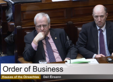 Mattie McGrath (L) in the Dáil today