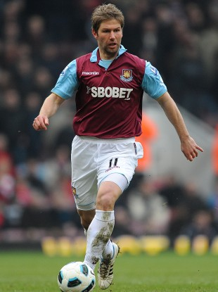 Hitzlsperger played in the Premier League for West Ham, Aston Villa and Everton.