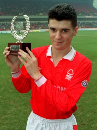 A young Keane at Nottingham Forest.