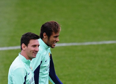 Barcelona duo Lionel Messi and Neymar.
