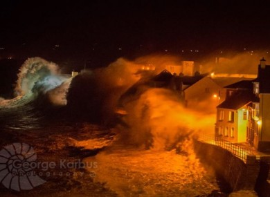 Waves battering the seafront at Lahinch last week
