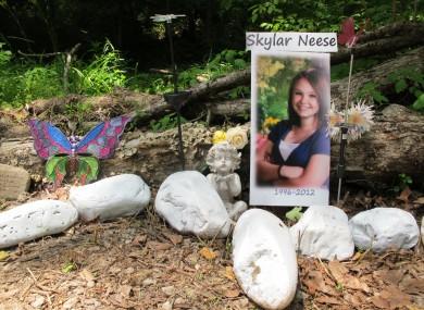 A memorial to slain Skylar Neese