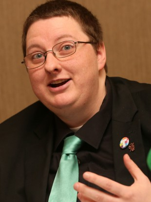Ben Power of the Transgender Equality Network Ireland (TENI) pictured earlier this week.