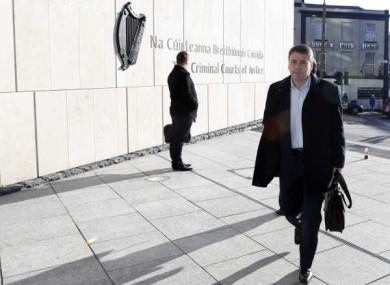 Pat Whelan arriving at the Dublin Circuit Criminal Court.