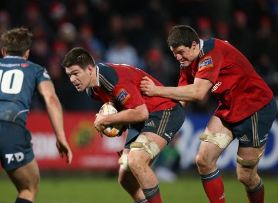 Holland and Nagle in action against the Scarlets in December.
