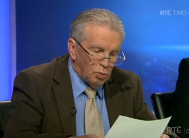 Johnny Giles reads out RVP's post-match comments.