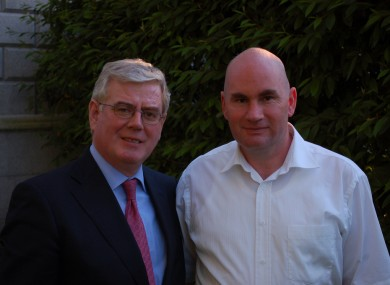 Damian Molyneaux (right) with Tánaiste and Labour Party Leader Eamon Gilmore.